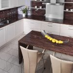 Кухонная столешница для большой кухни