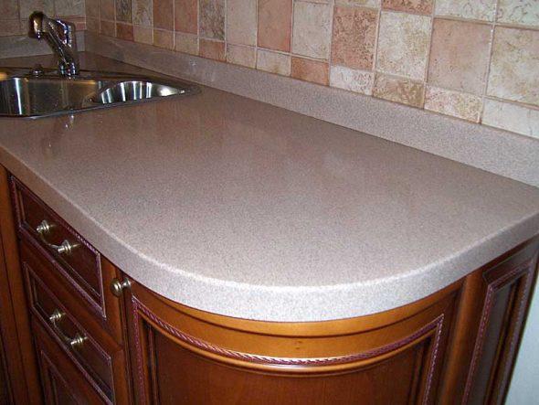 Кухонная столешница, изготовлена по индивидуальному подбору цвета