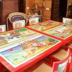 Симметричные рисунки на обеденном столе