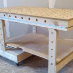 Складной рабочий стол для мастерской