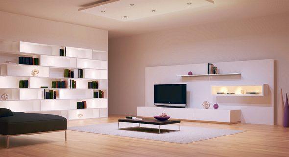 Светильники в мебели из ламинированной ДСП