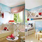 Тема пляжа в интерьере детской комнаты