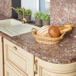 Выбираем кухонную столешницу по виду материала