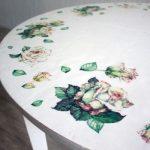 белый стол в стиле шебби-шик