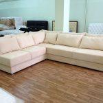 угловой диван замша