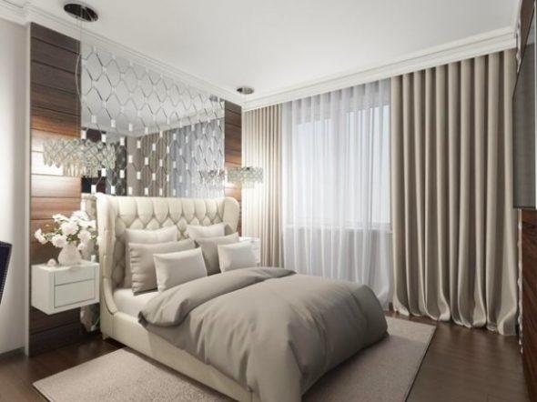 бра над кроватью в спальне