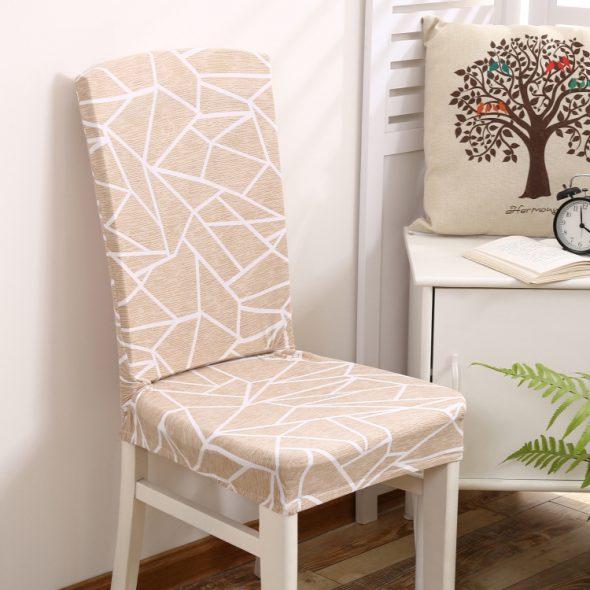 чехлы на стулья офисные цветочный