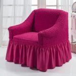 чехол для кресла малиновый