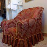 чехол для кресла с оборкой