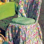 цветочный чехол на стулья