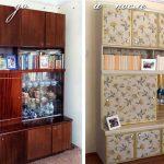 декор шкафа до и после