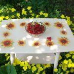 декупаж стола в летних красках