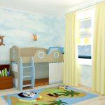 детская кровать-чердак Морячок