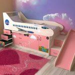 детская кровать чердак самолет
