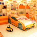 детская кровать машина феррари