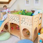 детская кровать с горкой дизайн