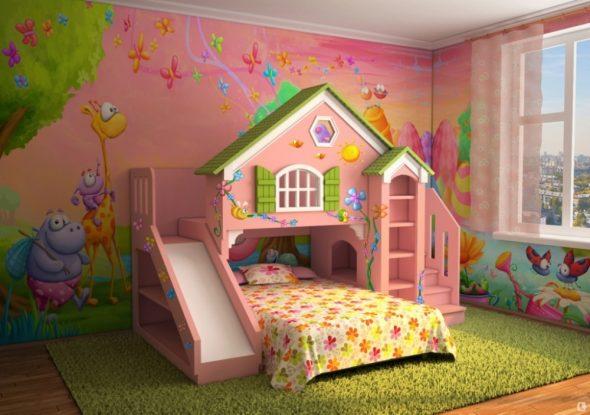 детские кровати с горкой