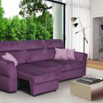 диван замшевый фиолетовый