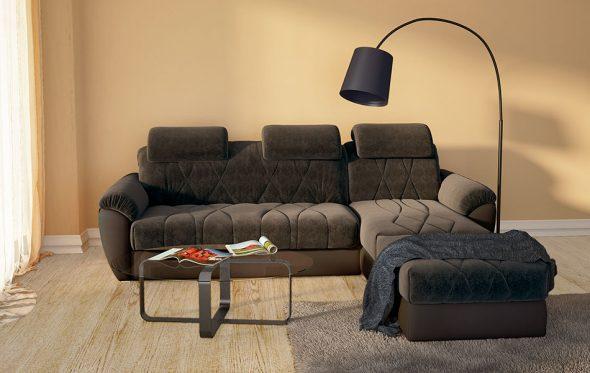 диван-кровать Аскона темного цвета
