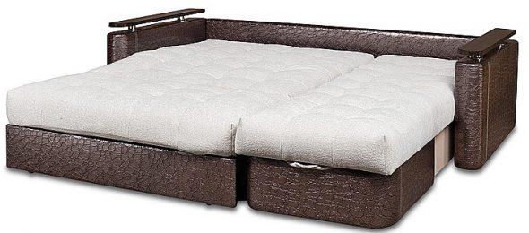 диван-кровать с механизмом Аккордеон кожаный