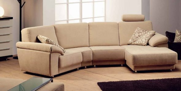 диван замшевый
