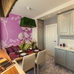 дизайн кухни 10 кв. м. с диваном
