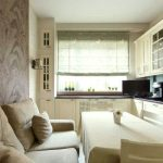 дизайн кухни 10 кв м с диваном