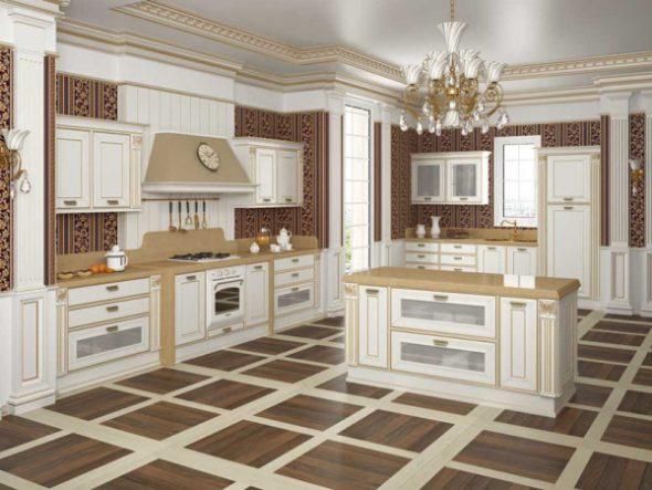 кухня в стиле семнадцатого века