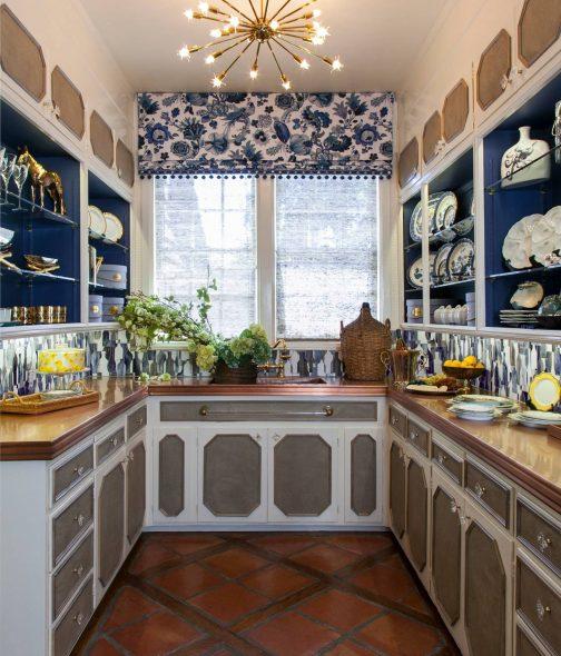 кухня буквой п в сторону окна
