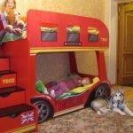 двухъярусная кровать автобус для детей