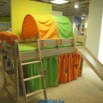 детская кровать с горкой фото