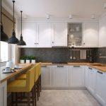 интерьер кухни подоконник столешница