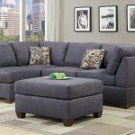 серый угловой замшевый диван