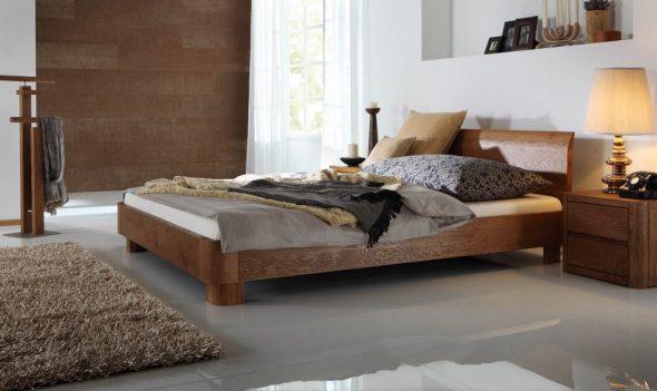 кровать для спальни из дуба