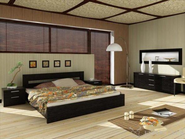 кровать из дсп в спальне