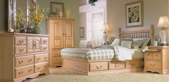 кровать из дерева прованс