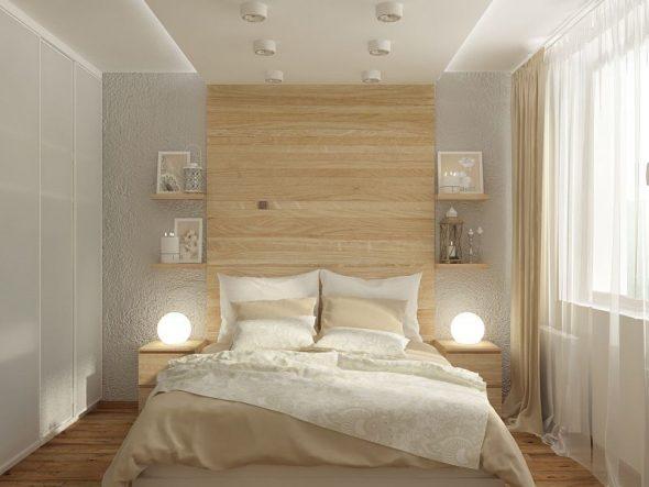 кровать из дерева светлая