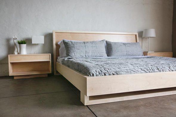кровать из клена