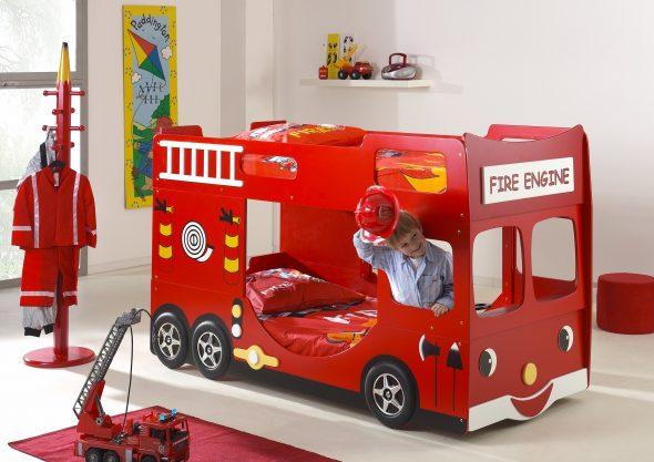 кровать пожарная машина