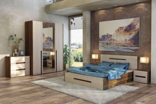 кровать ребекка в спальне