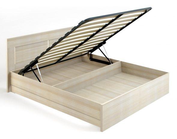 кровать с металлическим основанием