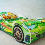 кровать машина зеленая