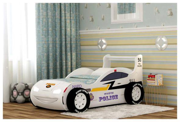 кровать полицейская машина