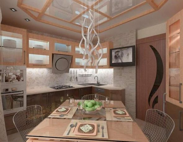 кухонный гарнитур в интерьере кухни