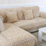 накидка на угловой диван бежевая