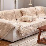 накидка на угловой диван декор