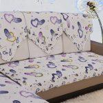 накидка на угловой диван с красивым рисунком