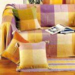 накидка на угловой диван яркая