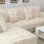 накидка на диван из стеганой ткани