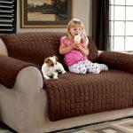 накидка на диван коричневая